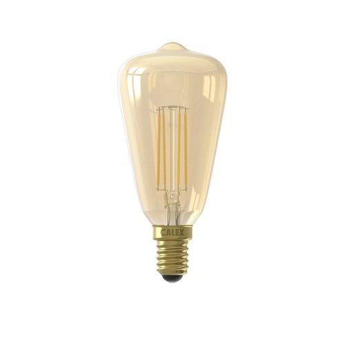 Calex Calex Rustic LED Lampe Warm - E14 - 320 Lm - Gold Finish - Vintage Lampe