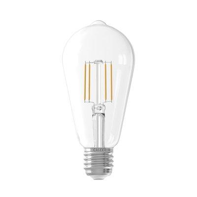 Calex Rustic LED Lampe Filament - E27 - 600 Lm - Silver - Vintage Lampe