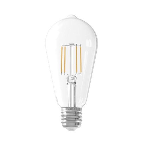 Calex Calex Rustic LED Lampe Filament - E27 - 600 Lm - Silver - Vintage Lampe