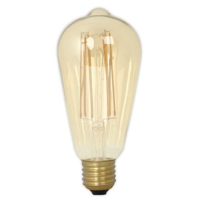 Calex Rustic LED Lampe Warm - E27 - 320 Lm - Gold / Transparent - Vintage Lampe