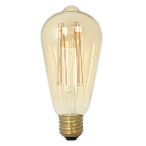 Calex Calex Rustic LED Lampe Warm - E27 - 320 Lm - Gold / Transparent - Vintage Lampe
