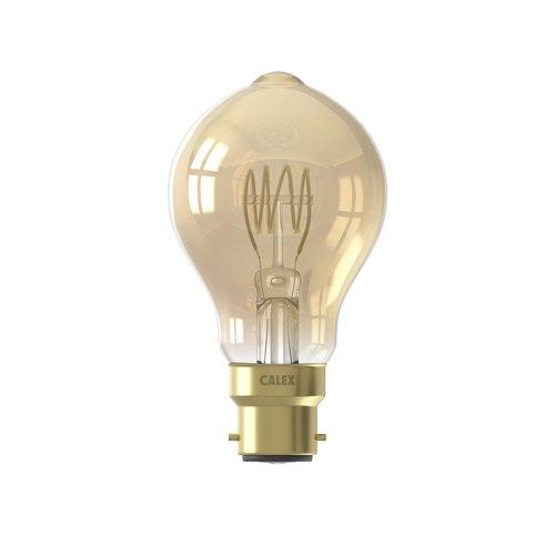 Calex Calex Premium LED Lampe Flexible - B22 - 200 Lm - Gold - Vintage Lampe