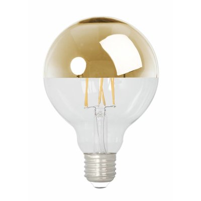 Calex Globe LED Lampe Warm - E27 - 280 Lm - Gold / Silver - Vintage Lampe