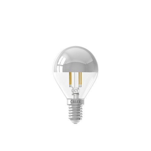 Calex Calex Spherical LED Lampe Warm - E14 - 310 Lm - Silver - Vintage Lampe
