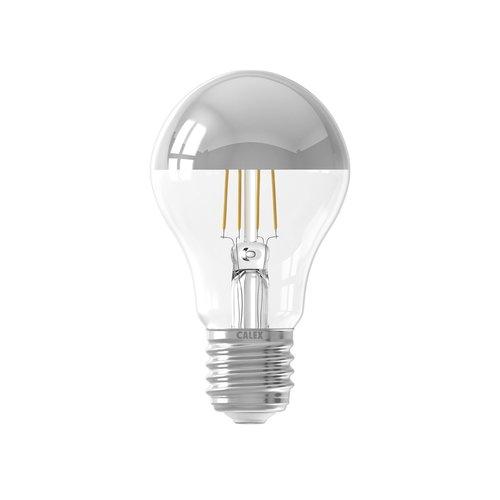 Calex Calex Spherical LED Lampe Warm - E27 -300 Lm - Silver - Vintage Lampe