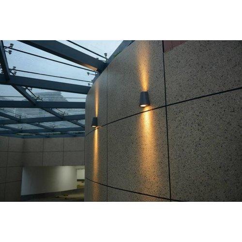 Beleuchtungonline.de LED Wandleuchte - Los Angeles - Beidseitig - Schwarz