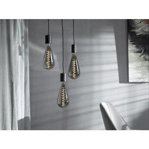 Calex Calex Malaga LED Lampe Ø160 - E27 - 90 Lumen - Titan - Vintage Lampe