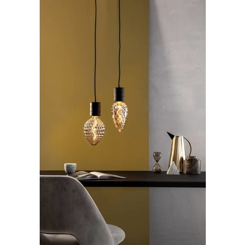 Calex Calex Sevilla LED Lampe Ø150 - E27 - 60 Lumen - Titan - Vintage Lampe