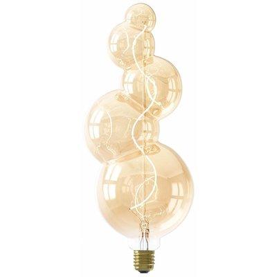 Calex Alicante LED Lampe Ø125 - E27 - 60 Lumen - Gold - Vintage Lampe