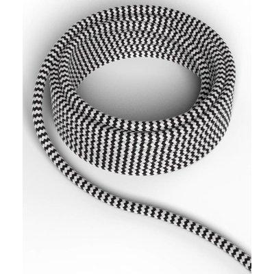 Calex Lampenkabel - Schwarz / Weiß - Vintage Lampe