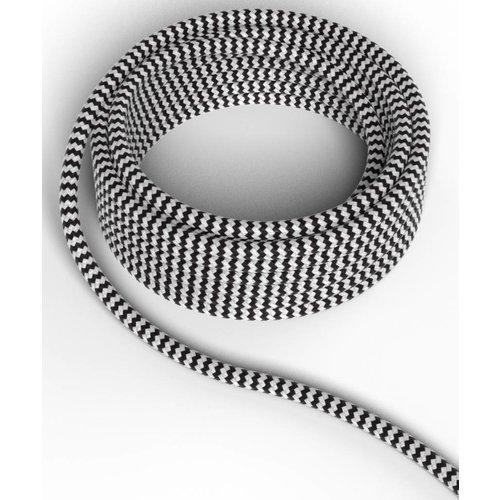 Beleuchtungonline.de Calex Lampenkabel - Schwarz / Weiß - Vintage Lampe