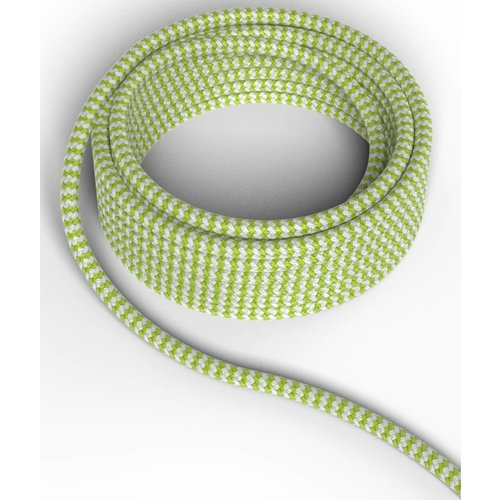 Beleuchtungonline.de Calex Lampenkabel - Grün / Weiß - Vintage Lampe