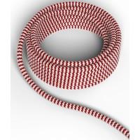 Beleuchtungonline.de Calex Lampenkabel - Rot / Weiß - Vintage Lampe
