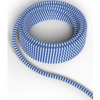 Beleuchtungonline.de Calex Lampenkabel - Blau / Weiß - Vintage Lampe