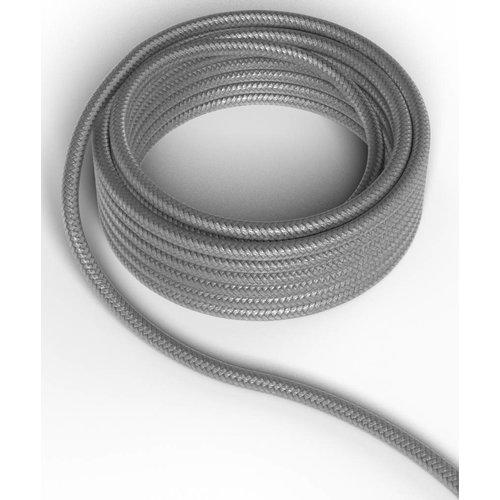 Beleuchtungonline.de Calex Lampenkabel - Metallic Grau - Vintage Lampe