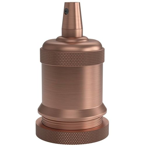 Beleuchtungonline.de Calex Lampenhalter E27 – Ø50mm – H71mm - Kupfer - Vintage Lampe