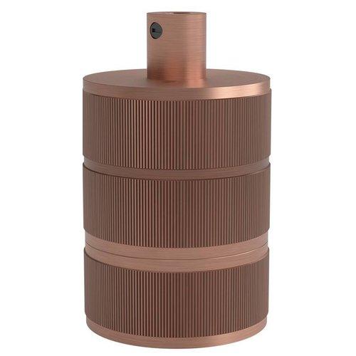 Beleuchtungonline.de Calex Lampenhalter E27 – Ø48mm – H63mm - Kupfer - Vintage Lampe