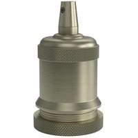 Beleuchtungonline.de Calex Lampenhalter E27 – Ø50mm – H71mm - Bronze - Vintage Lampe