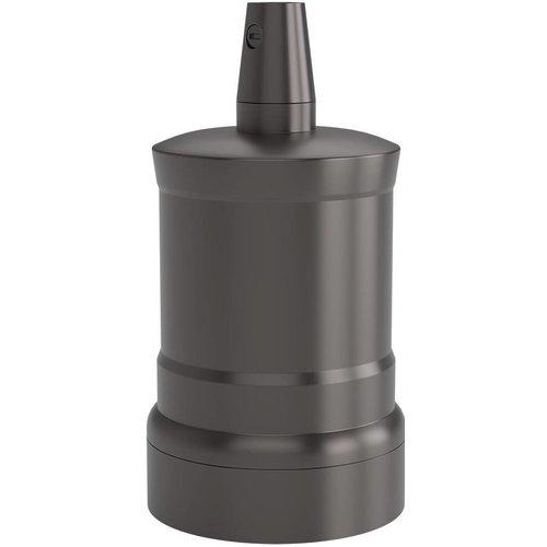 Beleuchtungonline.de Calex Lampenhalter E27 – Ø47mm – H63mm - Perlschwarz - Vintage Lampe