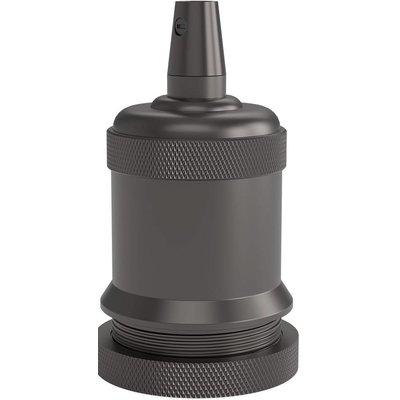 Calex Lampenhalter E27 – Ø50mm – H71mm - Perlschwarz - Vintage Lampe