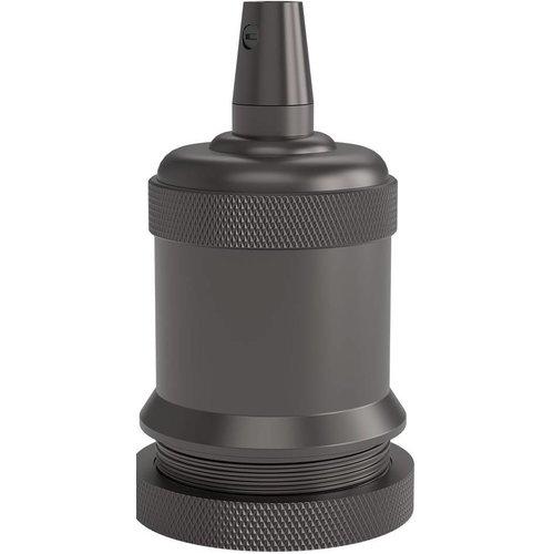 Beleuchtungonline.de Calex Lampenhalter E27 – Ø50mm – H71mm - Perlschwarz - Vintage Lampe