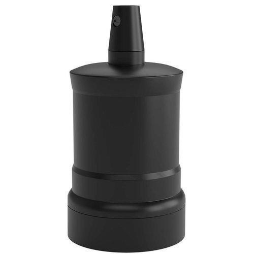 Beleuchtungonline.de Calex Lampenhalter E27 – Ø47mm – H63mm - Schwarz - Vintage Lampe