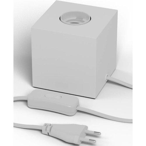 Beleuchtungonline.de Calex Lampenhalter E27 – Lampenhalter mit Schnur – Weiß - Vintage Lampe