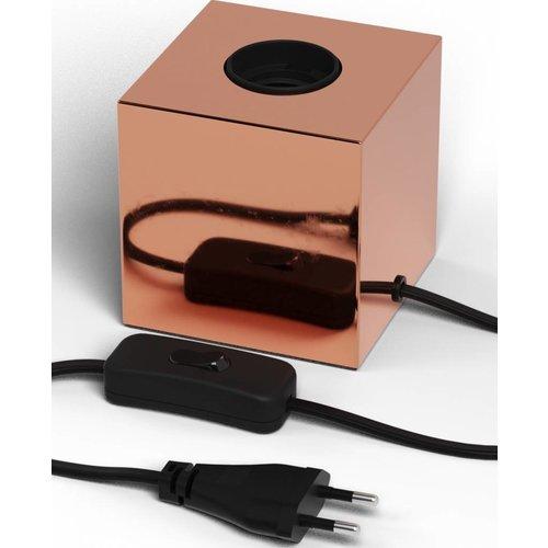 Beleuchtungonline.de Calex Lampenhalter E27 – Lampenhalter mit Schnur – Kupfer - Vintage Lampe