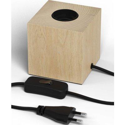 Calex Lampenhalter E27 – Lampenhalter mit Schnur – Holz - Vintage Lampe