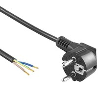 Beleuchtungonline.de Netzkabel 1,5m 220V 3x0,75 mm² inkl. Schutzkontaktstecker