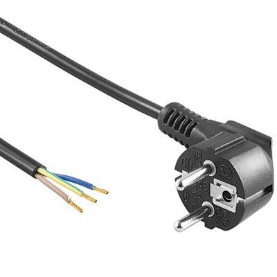 Netzkabel 1,5m 220V 3x0,75 mm² inkl. Schutzkontaktstecker