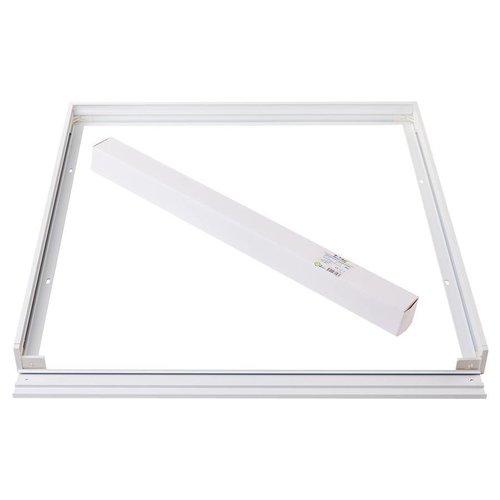 LED Panel Aufbau 60x60 - Aluminium - Weiß