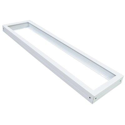 LED Panel Aufbau 120x30 - Aluminium - Weiß