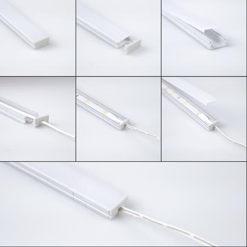 Beleuchtungonline.de Aluminium Profiel voor Trapverlichting van 15 Treden