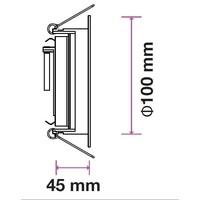 Philips LED Einbaustrahler Philips Laredo - GU10 - Dimmbar