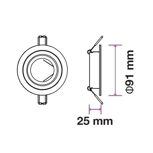 Philips LED Einbaustrahler Philips - Pittsburg - GU10 - Dimmbar
