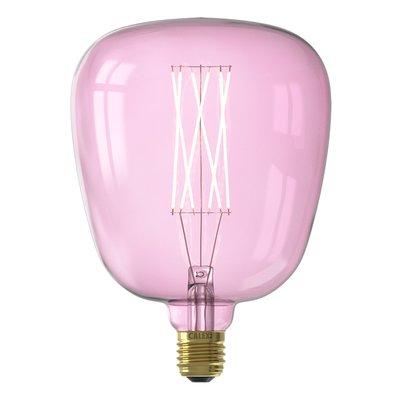 Calex Kiruna Ø140 - E27 - 200 Lumen – Rosa - Vintage Lampe