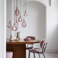 Calex Calex Kiruna Ø140 - E27 - 200 Lumen – Rosa - Vintage Lampe