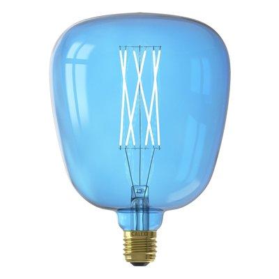 Calex Kiruna  Ø140 - E27 - 150 Lumen – Blau - Vintage Lampe