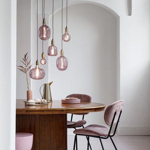 Calex Calex Boden Ø220 - E27 - 150 Lumen – Rosa - Vintage Lampe