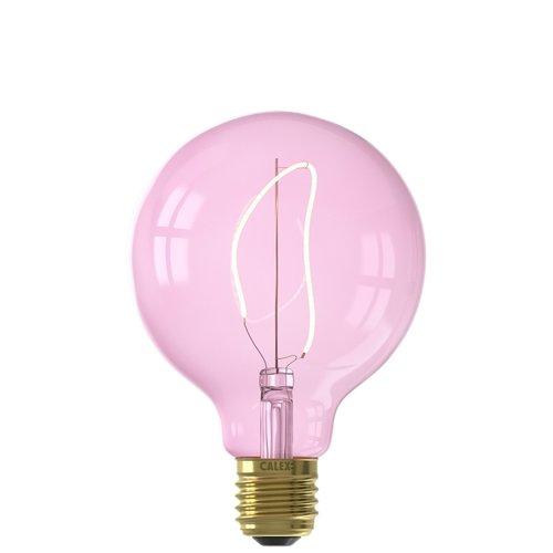 Calex Calex Nora G95 - Ø95 - E27 - 150 Lumen – Rosa - Vintage Lampe