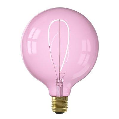 Calex Nora G125 - Ø125 - E27 - 150 Lumen – Rosa - Vintage Lampe