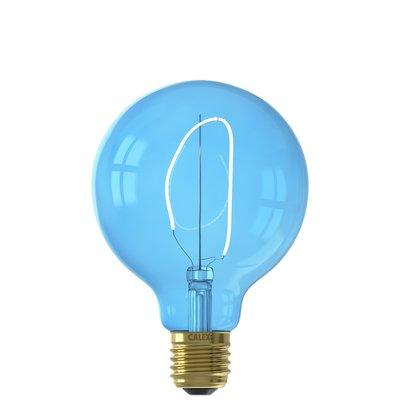 Calex Nora G95 - Ø95 - E27 - 80 Lumen – Blau - Vintage Lampe
