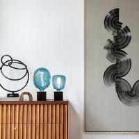 Calex Calex Nora G95 - Ø95 - E27 - 80 Lumen – Blau - Vintage Lampe