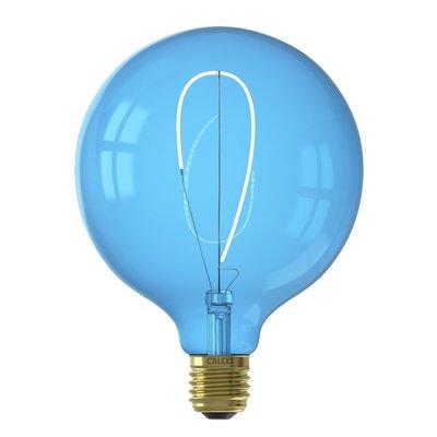 Calex Nora G125 - Ø125 - E27 - 80 Lumen – Blau - Vintage Lampe