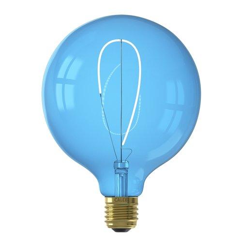 Calex Calex Nora G125 - Ø125 - E27 - 80 Lumen – Blau - Vintage Lampe
