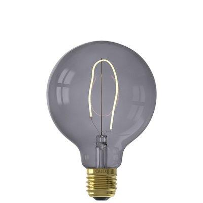 Calex Nora G95 -  Ø95 - E27 - 130 Lumen – Schwarz - Vintage Lampe