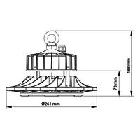 Beleuchtungonline.de Samsung LED Hallenstrahler UFO 100W - 160LM/W - 4000K