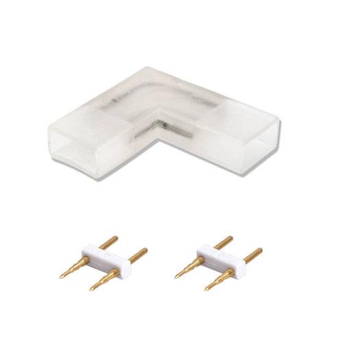 Beleuchtungonline.de 2-Stifte Winkelverbindung für  LED Strip 180 LEDs - 10 Stück