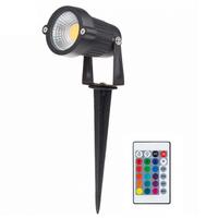 Beleuchtungonline.de LED Gartenstrahler 6W - IP65 - RGB - Integrierte LED